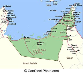 United Arab Emirates-World-Countries-Vector Map-A