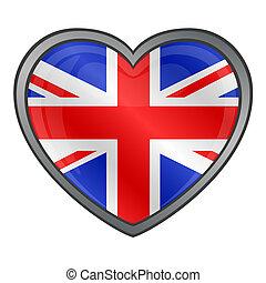 United Kingdom Flag Heart