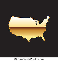 United states gold map