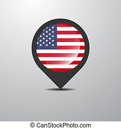United States of America Map Pin