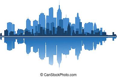 Urban architecture for business concept design. Vector illustration