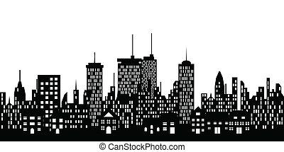 Urban skyline of a big city