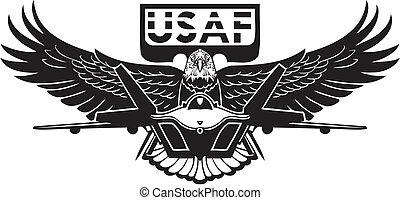 US Air Force - Military Design. Vinyl-ready vector illustration.