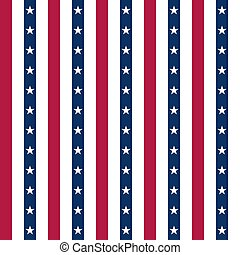 USA background with elements of the American flag. Abstract seamless pattern design for Independence day.