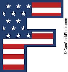 USA F letter