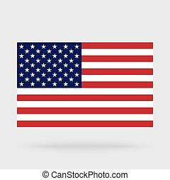 USA flag isolated on background