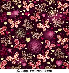 Valentine seamless dark pattern