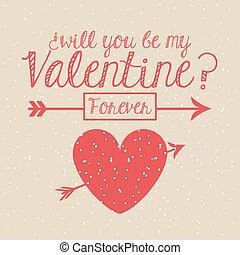 valentines day over pink background vector illustration