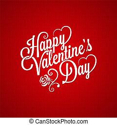 valentines day vintage lettering design background