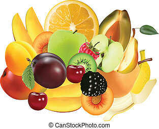 Variety of Exotic fruits - image can be re-size to any limit
