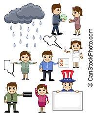 Various Cartoon Vector Set