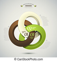 vector abstract 3d rings infographic elements