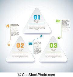 vector abstract 3d sticky infographic elements