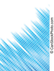 Vector abstract blue background with square