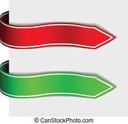 vector arrow ribbon signs