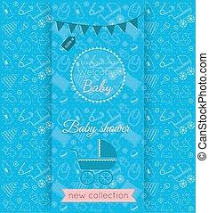 Vector Baby Blue Card