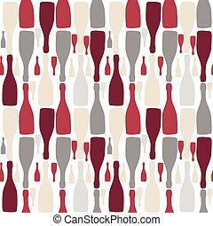 Vector background with bottles. Good for restaurant or bar menu design
