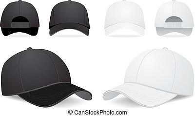Vector baseball cap illustration on white background