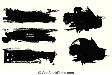Vector black white paint.