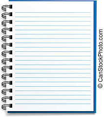 vector blank lined notebook