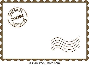 Vector blank postcard illustration