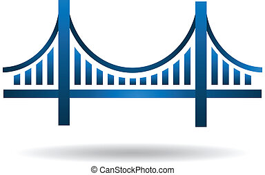 Vector Blue Bridge Icon