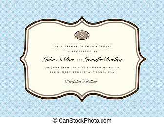 Vector ornate frame. Easy to edit. Perfect for invitations or announcements.
