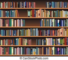 vector bookshelf