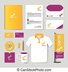 Vector brochure, flyer, magazine, folder, t-shirt, cover booklet poster mockup design template/ layout stationery annual report A4 size/ set of corporate identity template.