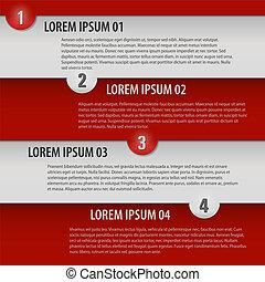 Vector brochure page design