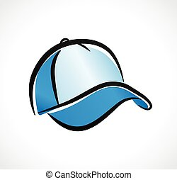 Vector cap design on white background