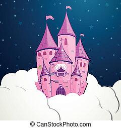 Vector Cartoon Castle