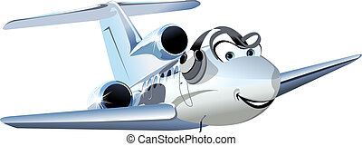 Vector Cartoon Civil utility airplane. Available EPS-10 vector format separated by groups and layers for easy edit