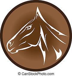 vector cartoon horse head.