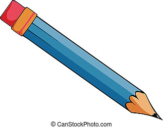 Vector Illustration of a cartoon pencil.