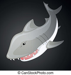 Vector Cartoon Shark