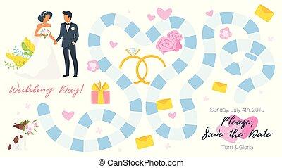 Wedding board game template