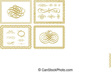 Vector Certificate Borders and Ornaments