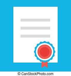 Vector Certificate Icon