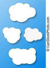 Vector clouds with shadow