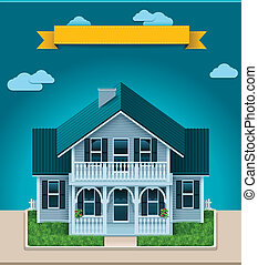 Vector cottage XXL icon