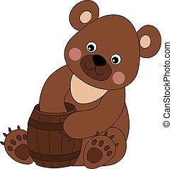 Vector Cute Cartoon Bear