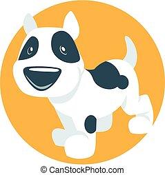 Vector cute puppy