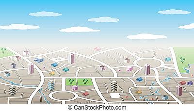 vector design of 3d city map