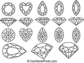 vector diamond set