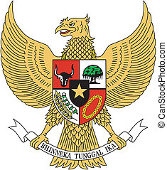 vector emblem Indonesia