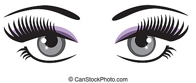 vector eyes with long lashes