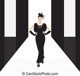 fashion model on the podium