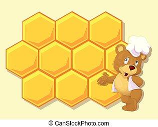 Little bear with honey wax
