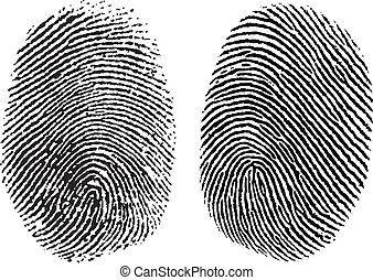 Two detailed vector thumb prints. Easy to edit